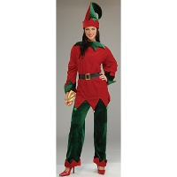 COSTUME SANTA HELPER DLX