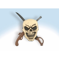 PIRATE SKULL WALL PLAQUE