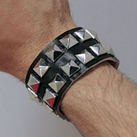 Leather Double Studded Bracelet
